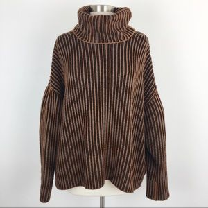 Zara chunky textured slouchy oversized sweater S